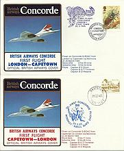 Concorde first flight London Capetown and return dated 28th and 29th March 1985.  Flown by Capt R V