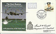 G S Grant McDonald Gunner signed 44th ann Dams Raid cover, rare. Good condition