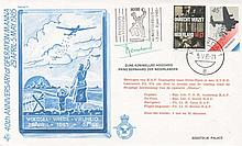 40th ANNIVERSARY OF  OPERATION MANNA 29 APRIL-5 MAY 1985  FDC SIGNED BY PRINCE BERNHARD  OF THE NETH