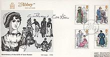 ABBEY FDC BIRTH OF JANE AUSTEN SIGNED CATHERINE COOKSON GOOD CONDITION