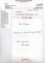 POWS Signatures of 4 members of the Monte San Martino Trust, former POWs in Italy who escaped and we