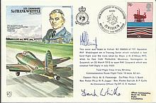 Frank Whittle signed on his own Historic Aviators cover, rare autograph. Good condition