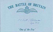 J Strihavka 310 sqdn- Battle of Britain signed index card. Good Condition