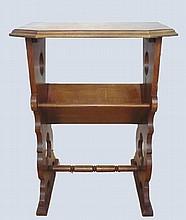 Table pour revue en bois naturel de style Directoire 72x55x40 cm