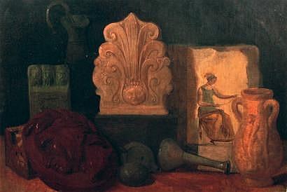 Arthur HACKER (1858-1919) Nature morte aux objets