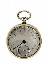 Podomètre en métal avec mouvement en laiton en forme d'une montre. D. 48 mm