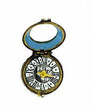 Pilulier à trois divisions en forme d'un boîtier de montre du XVIIe siècle