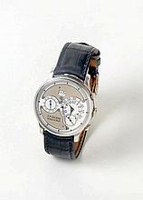 Montre-bracelet automatique en platine, chronographe, signée sur la lunette