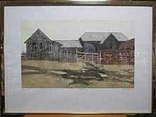 § Valerie Thornton (British, 1931-1991) - Suffolk Farm - signed lower right
