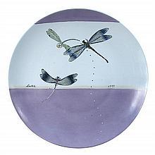 Fabienne Jouvain, a large porcelain 'Libellule' charger,