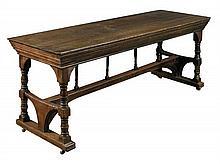 Philip Webb for Morris & Co., an oak centre table, circa 1870,