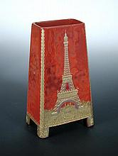 An Art Deco 'realgar' glass vase,