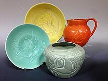A collection of Susie Cooper earthenwares,
