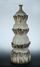 Bernard Rooke, a large stoneware floor standing lamp base,