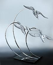 Daum, Nancy, a rare limited edition 'Atlantique' sculpture,