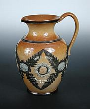 A Doulton Lambeth stoneware water jug,