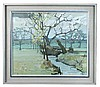 § Anthony Atkinson (British, b. 1929) Spring landscape at Boxted signed lower right