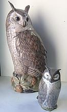 A large Royal Copenhagen model of a long eared owl,