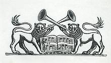 § Gwen Raverat (British, 1885-1957) Lions (a design for Cambridge University Music Society), 1934