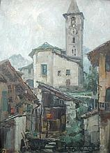 Robert Mumford (British, 20th Century) - At Baveno, Lake Maggiore signed lower right
