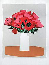 Andrew Schunney (American, 1916-1978) Poppies in a vase signed lower right