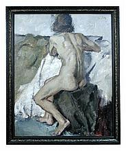 § Leo Putz (Austrian, 1869-1940) Nude signed upper right