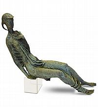 Thomas Bayliss Huxley-Jones, (British, 1908-1969), a bronze model of a seated female,
