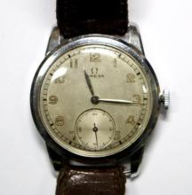 By Omega - a gentleman's steel cased wristwatch,