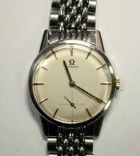 By Omega - a gentleman's steel cased manual wind wristwatch,