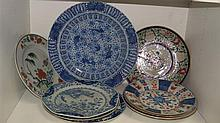 Ten 18th century and later plates,