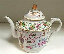 A famille rose tea pot and cover