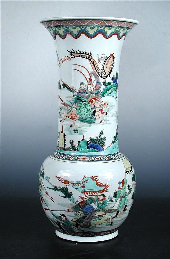 A Kangxi style famille verte vase,