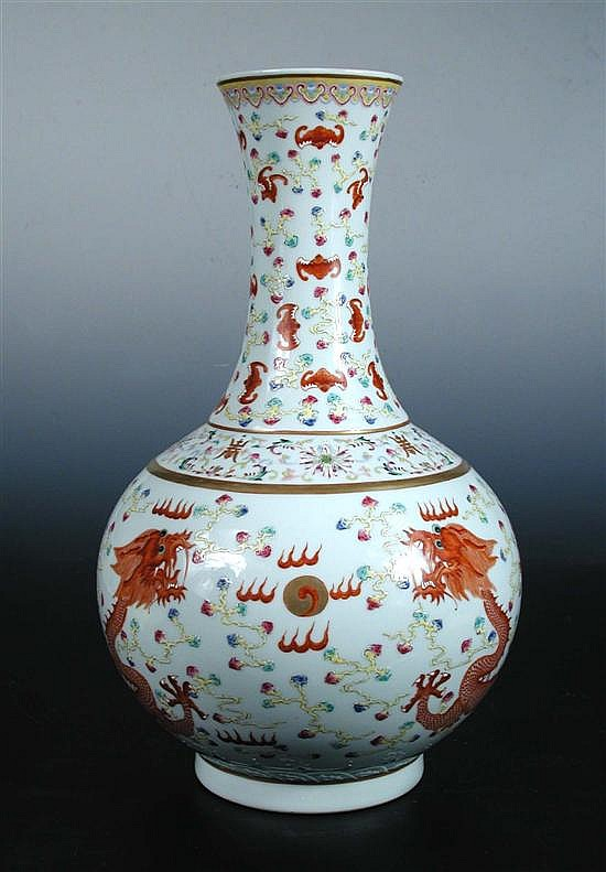 A bottle vase, six character mark of Guangxu,