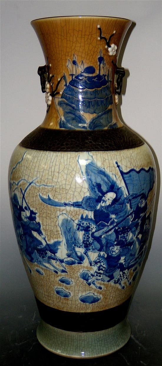 A 19th century crackleware vase,