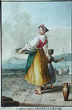 Gaetano Gigante (Italian, 1770-1840) A Maid of the Sea, Pozzuoli, near Naples, 1817 signed lower left