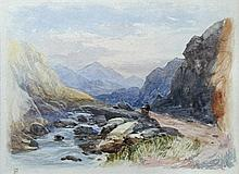 Myles Birket Foster, RWS (British, 1825-1899) The Pass of Llanberis, Wales signed with monogram lower left