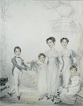 Benjamin Burnell (British, fl.1790-1828) The Wyld Children signed lower left