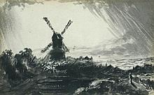 John Constable, RA (British, 1776-1837) Windmill with storm clouds, circa 1830-1835