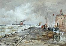 Thomas Bush Hardy, RBA (British, 1842-1897) An old Dutch fort; and Brest Harbour signed lower left
