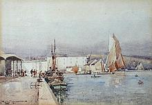 Eyre Simmons (British, fl.1902-1914) The Barbican, Plymouth, looking north; and the Barbican, Plymouth, looking south both signed lo...