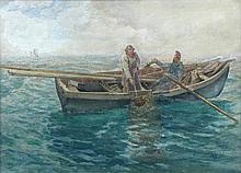 Charles Napier Hemy (British, 1841-1917) Gathering storm signed lower right
