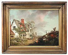 John Inigo Richards (British, 1731-1810) A Farmhouse and Yard