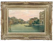 A Verutti (Italian, 19th Century) -  The Grand Canal, Venice  - signed lower right