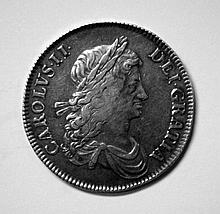 Charles II 1662 crown vf