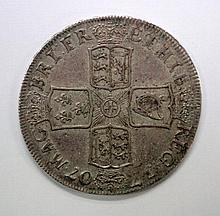 Queen Anne crown 1707 ef