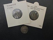 Henry III longcross penny 1247-1272; an Edward III penny and a John 1199-1216 short cross penny (3)