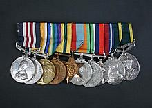 A Military Medal group of ten to 221 Private W Cunnington, Hunts Cyclist Btn