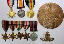 WWI medal group,