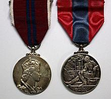 A 1953 coronation medal and an Imperial Service Medal (damaged) (2)