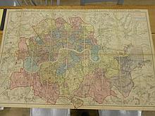 Travel Maps. Stanford (Edward) Stanford's Map of the County of London, According to the Local Government Act, 1888, colour-cod...